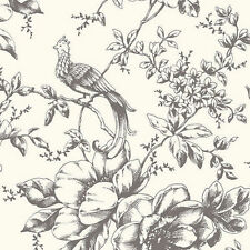 Bird and Floral Wallpaper Double Roll  FREE SHIPPING