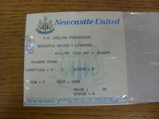 04/11/1995 Ticket: Newcastle United v Liverpool (folded). Thanks for viewing thi