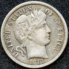 1913 (Xf) 10C Silver Barber Dime
