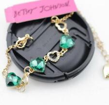 Holiday gift Enamel Jewelry Betsey Johnson Heart-to-heart Golden Charm Bracelet