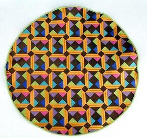 Lord R Colton Masterworks Pocket Round Taormina Brown Geo Silk - $75 Retail New