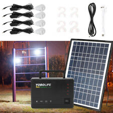 Solar Panel Generator 4Pcs Leds Usb Charger System Back-up Electric Home Outdoor