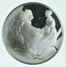 Sterling Silver - Treasures Of The Louvre - 925 - 41.2 Grams Round/Art Bar *064