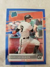 2020 Donruss Optic Mauricio Dubon Rated Rookie Blue Prizm #'d 6/75