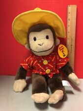 Curious George Plush With Red Buttoned Up Shirt & Yellow Hat Toy Network
