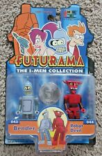 FUTURAMA THE I-MEN COLLECTION BENDER AND ROBOT DEVIL RARE NEW TOYNAMI