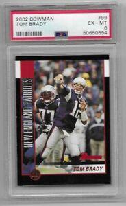 2002 Bowman  Tom Brady #99  PSA 6 EX-MT   Patriots / Bucs