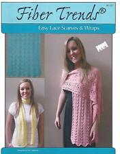 Easy Lace Scarves & Wraps Knitting Instruction Pattern Fiber Trends AC-87 NEW