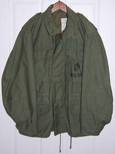 Vintage Named USMC Stenciled M1965 Alpha Cold Weather Field Jacket Large Size