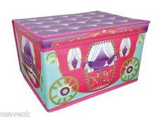 PINK PRINCESS CARRIAGE JUMBO STORAGE BOX CHEST 50 x 30 x 40cm GIRLS CHILDRENS