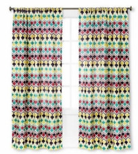 "BUY 2 GET 1 FREE Summer Curtain 55"" X 84"" Curtain Panel Multicolored One Curtain"