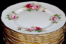 8 Royal Albert American Beauty Dinner Plates England 1# Quality England