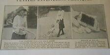 1924 Une voiture pliante pour bébés ( poussette )  image print