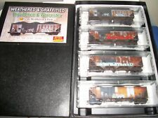 N Scale Weathered Providence and Worchester 4 Pack
