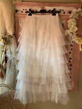 jupe jupon en tulle blanc multivolants shabby bohème  romantique CREATION