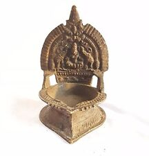 Very Old Brass Goddess Laxmi OIL Lamps Diya Deepak Hindu Puja Diwali God Statue