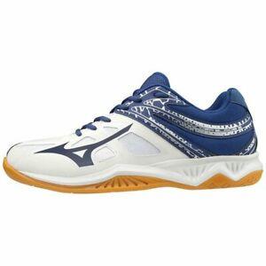 Mizuno Thunder Blade 2 White Blueprint Volleyball Squash Indoor Court Trainers