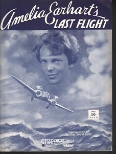 Amelia Earhart's Last Flight 1939 Barbelle Cover Aviation Sheet Music