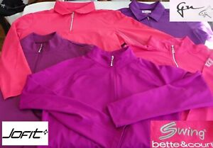Jo-Fit SWING Greg Norman Golf Sizes L & XL Quarter-zip Pull-over Var Colors EUC!