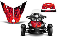 Can Am BRP RTS Spyder Roadster Hood Graphic Kit Decal Sticker Wrap 10-11 ICE RED