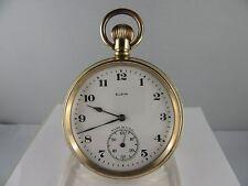 """C519 ⭐⭐ Vintage """"Elgin"""" estados unidos reloj de bolsillo exclusivamente ⭐⭐ impecable"""