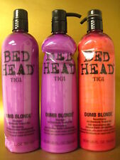 TIGI BED HEAD DUMB BLONDE SHAMPOO & RECONSTRUCTOR 25.36 PACK OF 3 see pictures