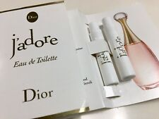 Lot of 2 NEW DIOR J'adore Eau de Toilette EDT Sample, 0.03oz/1ml @