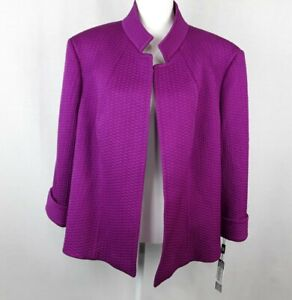 TAHARY Arthur S Livine Womens Jacket  Hot Pink Size-22W Open Front