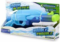 Aqua Blaster Double Trouble Garden Water Pump Gun Super Pistol Cannon Soaker