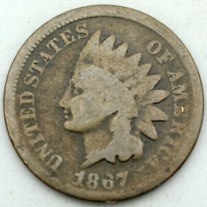 1867 Indian Cent - G/Good