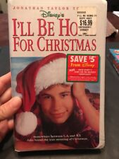Ill Be Home For Christmas Clamshell VHS Tape Movie Jonathan Taylor Thomas