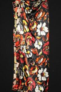 """RARE VINTAGE 1930'S-1940'S DEADSTOCK SILK SATIN FLORAL FABRIC 5 YDS L X 41"""" W"""