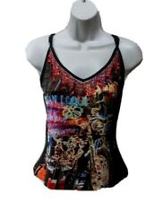 Amour Love Womens Vintage Motorcycle Top S Sz 4 Tank Top Embellished USA