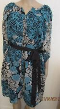 NWT SIZE 12 TEAL/BLACK BATWING STYLE DRESS SIMPLY BE
