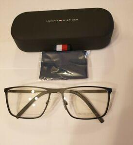 Herrenfassung Tommy Hilfiger 1803 schwarz matt, 58-17 Brille