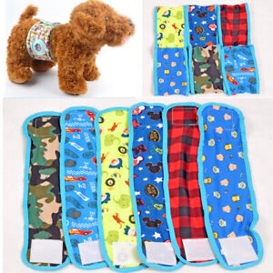 Cool Male Pet Dog Puppy Belly Wrap Band Diaper Nappy Pants Sanitary Underwear d~