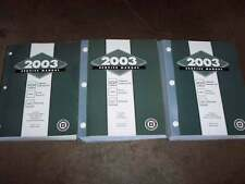 2003 Chevy TrailBlazer OEM Shop Service Repair Manual LS LT LTZ 4.2L 6-Cylinder