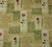 "WAVERLY RUE D'ORLEANS SAGE #D4013 GREEN FLORAL ROSE SCRIPT FABRIC BY YARD 54""W"