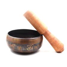 Tibetan Buddhism 9.5cm Brass Singing Bowl Meditation Prayer Chakra Gift Nepal