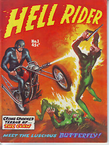 Hell Rider #1 Gredown Publication Australian Ed. Black & White