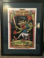 Pearl Jam 2013 EMEK Poster - Chicago, IL Wrigley Field Framed Matted