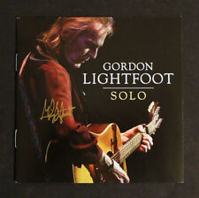 """GORDON LIGHTFOOT SIGNED - """"SOLO"""" CD - Brand New Sealed CD with Signed Booklet!"""