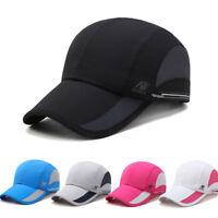 Men Outdoor Quick-drying Sport Baseball Cap Sun Visor Mesh Breathable Hat