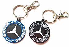 Porta chiavi Mercedes Benz Emblema in Gomma doppia faccia classe a b c amg