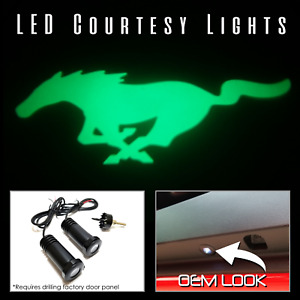 Lumenz C3 LED Courtesy Logo Lights Ghost Shadow Ford Mustang 100591 Green
