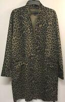 New Anthropologie by BLANKNYC Renegade Longline Blazer Coat Sz Large Olive Green