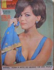 CLAUDIA CARDINALE COVER RIVISTA MANCHETE 1965 BRASIL MAGAZINE SPECIALE ITALIA
