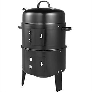 Deuba Barbecue Fumoir Fonctions 3 en 1 Grill barbecue fumoir 81,5 x 41 cm