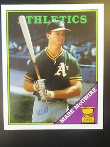 MARK McGWIRE OAKLAND A'S Original SIGNED AUTOGRAPHED Topps Baseball Card Folder