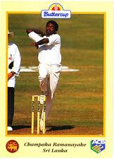 BUTTERCUP 1995 CHAMPAKA RAMANAYAKE Ball SRI LANKA, ACB Australian Cricket Card